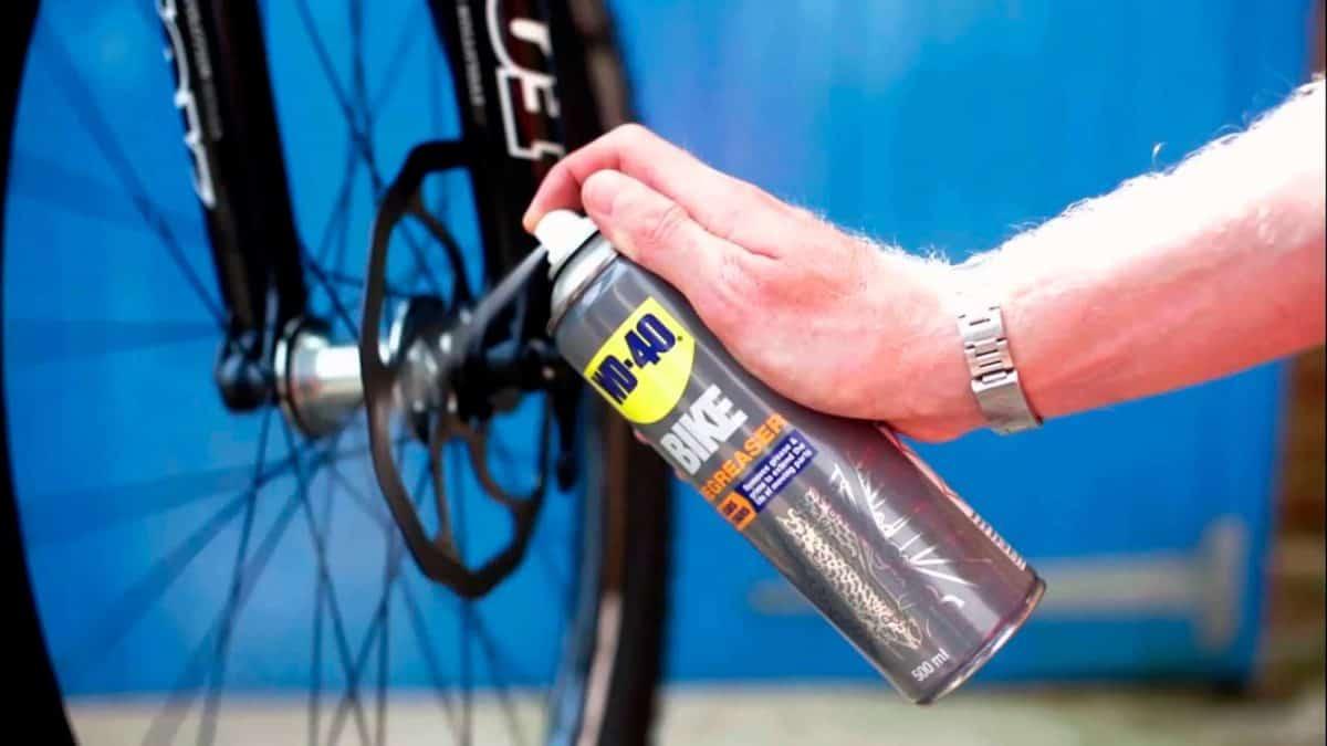 limpiar la cadena de la bici